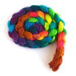 Color Hubbub on Organic Superwash Merino Roving
