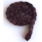 Blended Chocolate on Polwarth/Silk 60/40 Roving