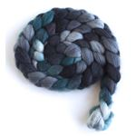 Grey and Teal on Superwash Merino/ Nylon4