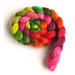 Blooms and Foliage on Falkland Wool Roving