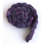 Violet Shadows - Polwarth/Silk 60/40 Roving