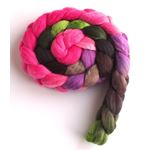 Blushing Pinks on Merino Wool,