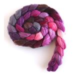 Orchid Waxing Crescent on Merino/ Silk