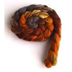 Fire Pit on Mixed BFL Wool Roving