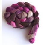 Stone and Amethyst on Targhee Wool Roving