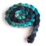 Shadows and Conifers on Polwarth/Silk Roving
