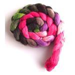 Blushing Pinks on Merino Wool