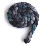 Grey and Teal - Superwash BFL Wool/ Nylon-2