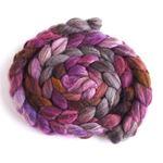 Violet Penumbra on Mixed BFL Wool Roving