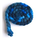 Riveting Blue on Superwash Merino/ Nylon Roving