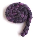 Purple Shade on Polwarth/Silk Roving