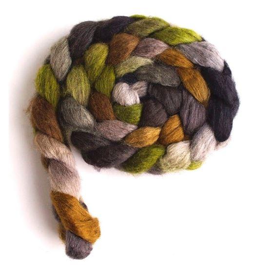Liken to Lichen on Mixed BFL/Silk Roving