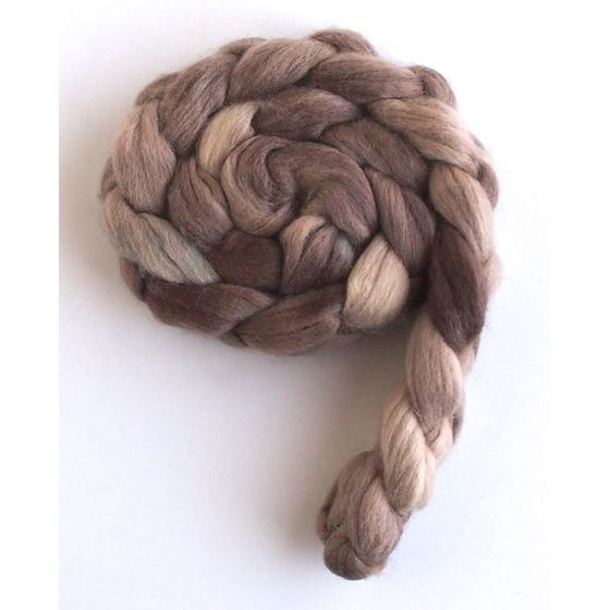 Goose Brown on Corriedale Wool Roving-4