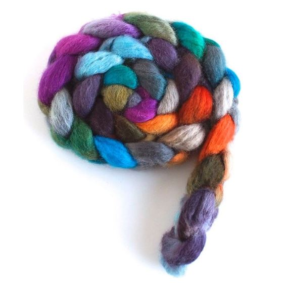 Wheel of Fortune - BFL Wool Spining Roving-4