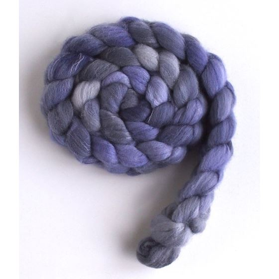 Lavender on Targhee/Bamboo/Silk Roving-4