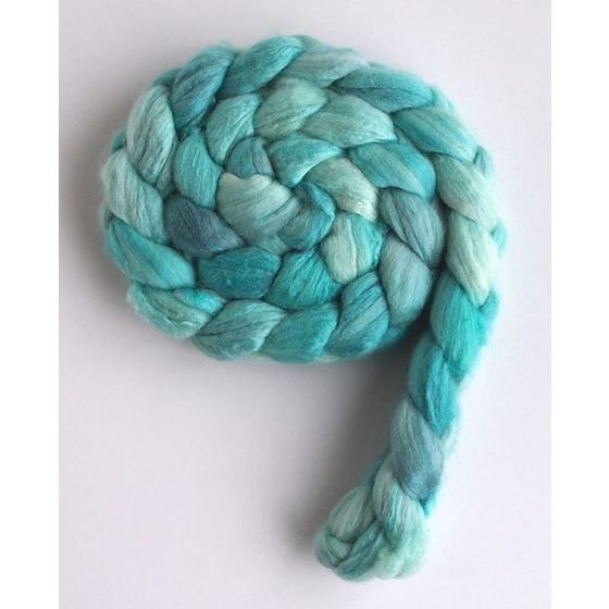 Sea Glass Tonal - Polwarth/Silk 60/40 Roving-2
