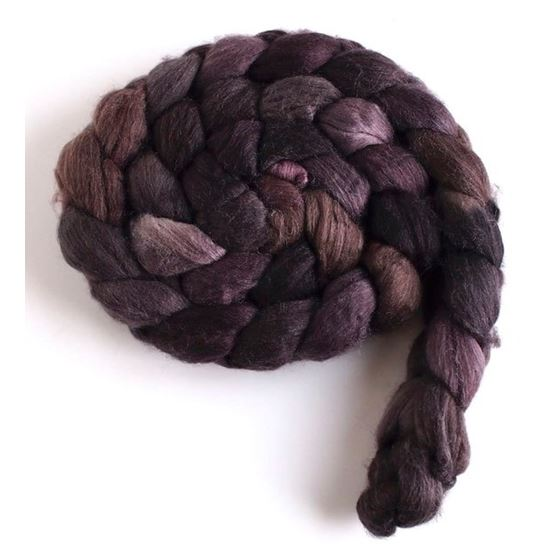 Stacked Cedar, Merino/ SW Merino/ Silk Roving-2
