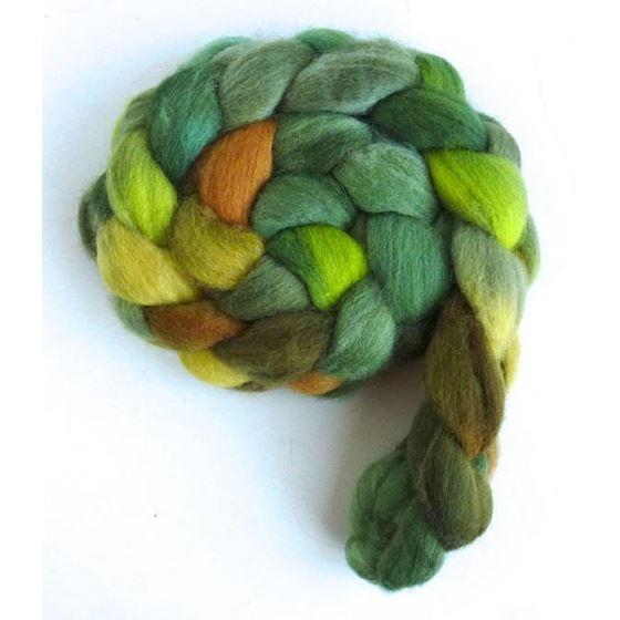 Falkland Wool Roving - Fiber, Green Family-2