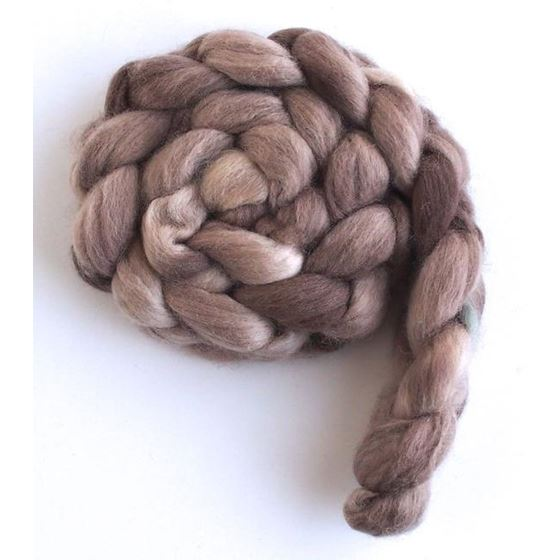 Goose Brown on Corriedale Wool Roving-2
