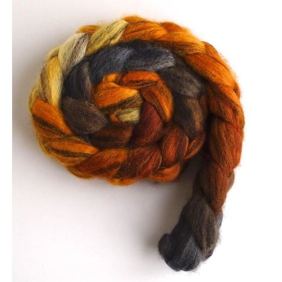 Fire Pit - Mixed BFL Wool Roving-2
