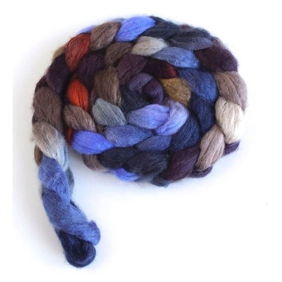 Layers of Darkness on BFL/Silk Roving