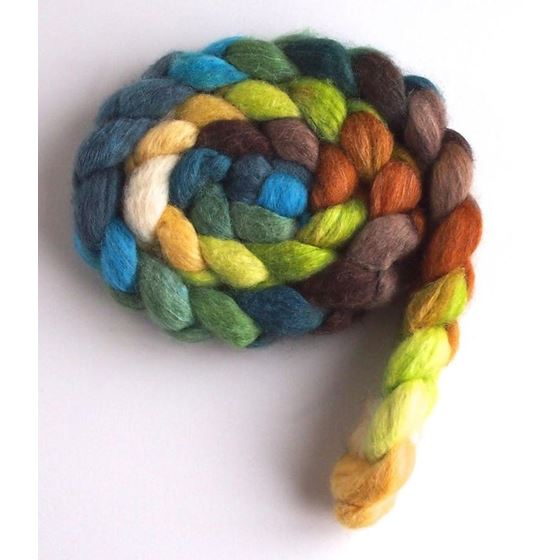 First Breath of Spring on BFL/Silk Roving