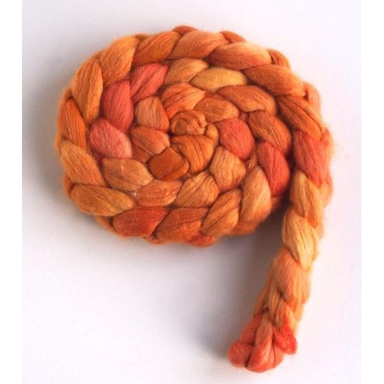 Peach Habitat on Merino/ Silk
