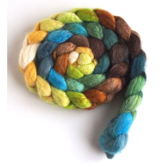 First Breath of Spring on BFL Wool Roving