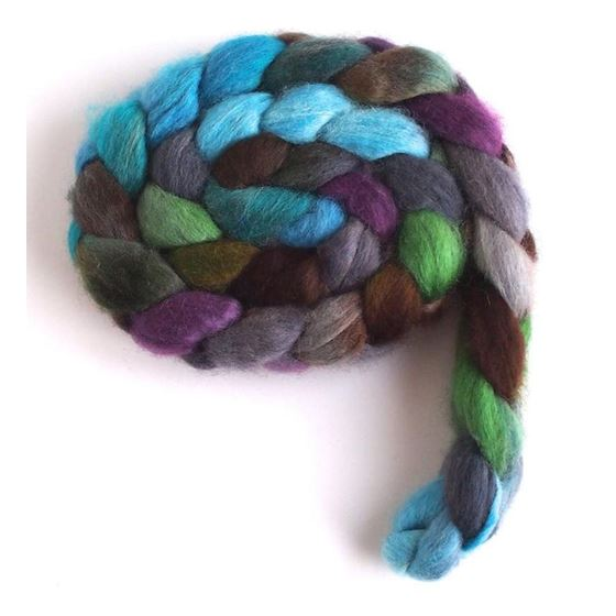 April Showers on BFL Wool Roving