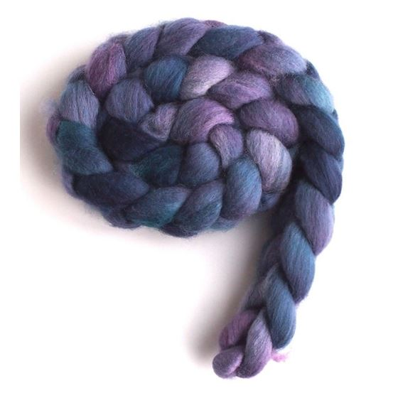 Blueberry Liqueur on Falkland Wool 4