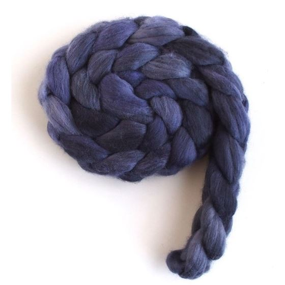 Velvet Night - Merino Wool Roving-2