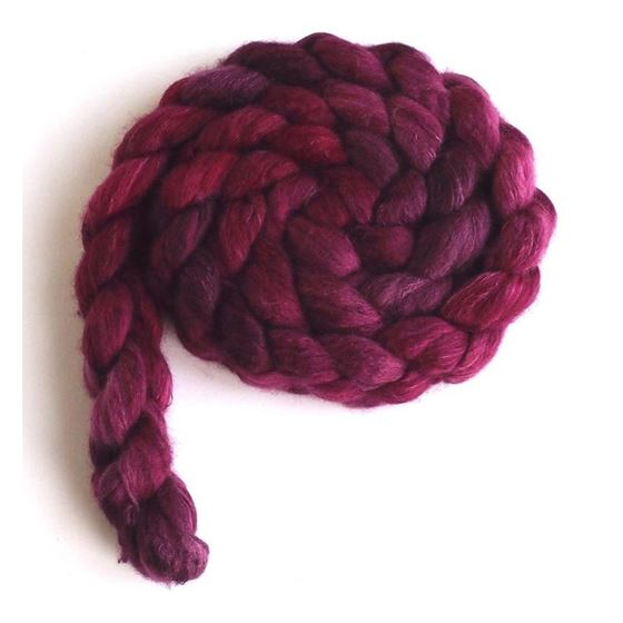 Dark Sweet Cherries on Organic Polwarth/Cult Silk