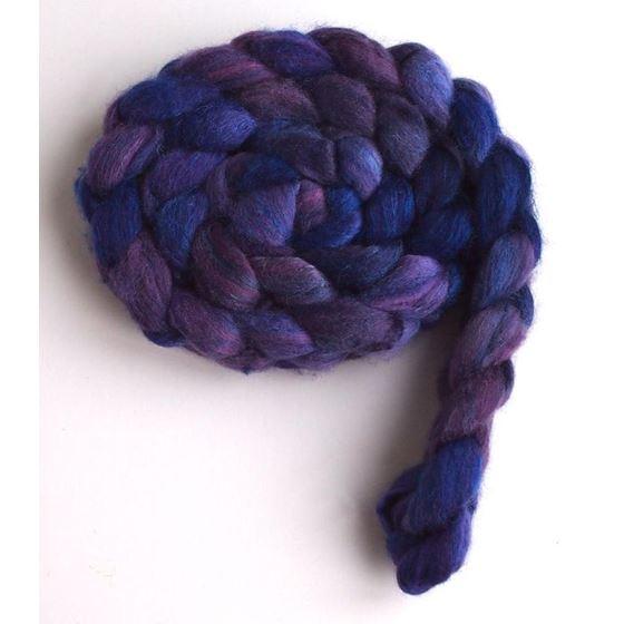 Violet Rivet on Polwarth/Silk Roving