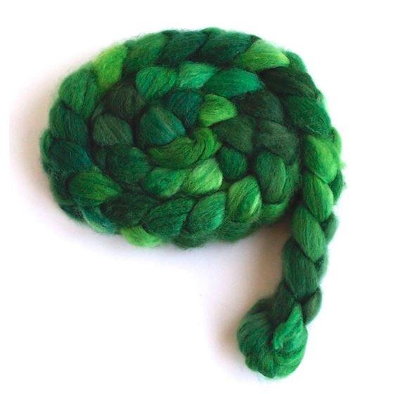 Green Gallery on Superwash Merino Nylon