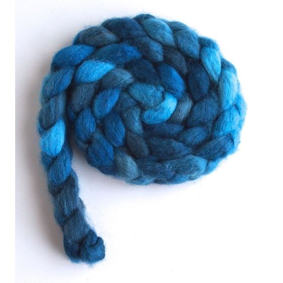 Riveting Blue on BFL/Silk Roving4