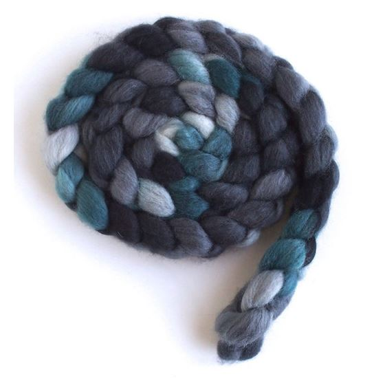 Grey and Teal on Superwash Merino/ Nylon2
