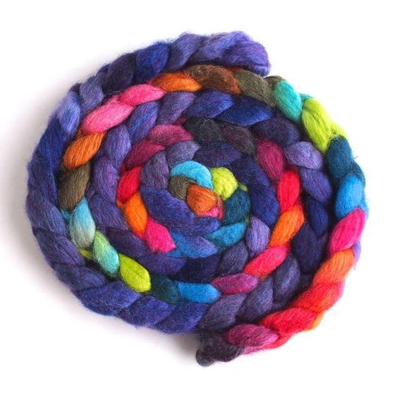 Violet Rivet on BFL/Silk Roving2