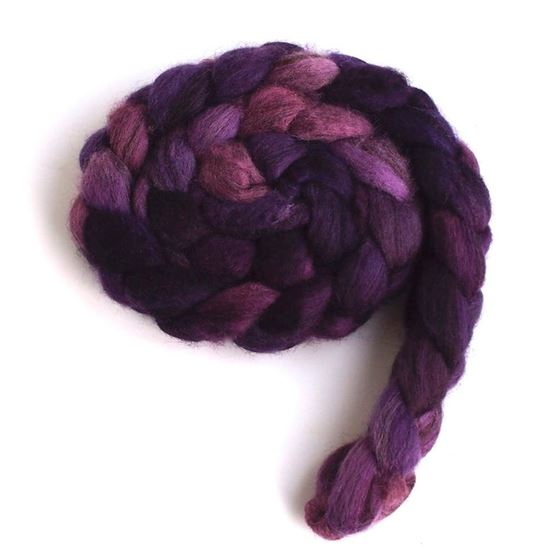 Capturing Violet on Mixed BFL Wool Roving