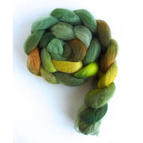 Falkland Wool Roving - Fiber, Green Family