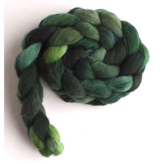 Flag Green on Rambouillet Wool Roving