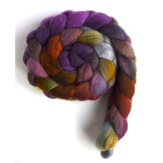 Shimmering Dusk - Falkland Wool Roving-2