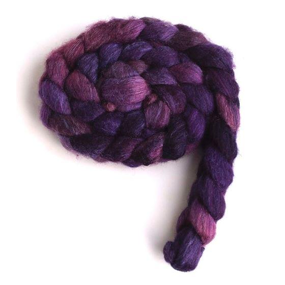 Capturing Violet on BFL/Silk Roving