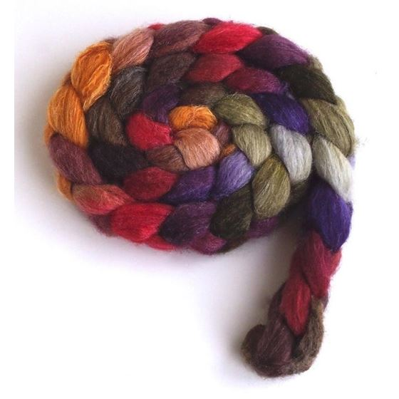 Capturing Fall on BFL/Silk Roving