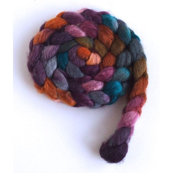 Heart of Wood on BFL/Silk Roving4