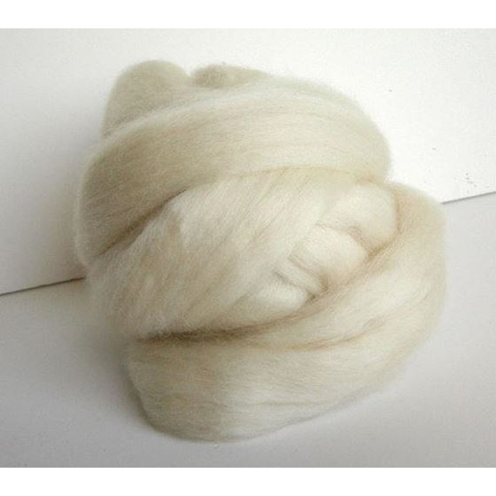 Blueface Leicester Ecru Roving Spinning or Felti-4
