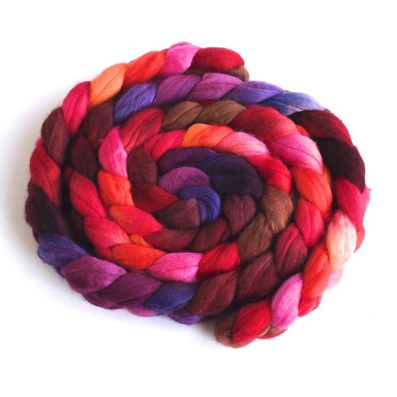 Ablaze on Superfine Merino Wool