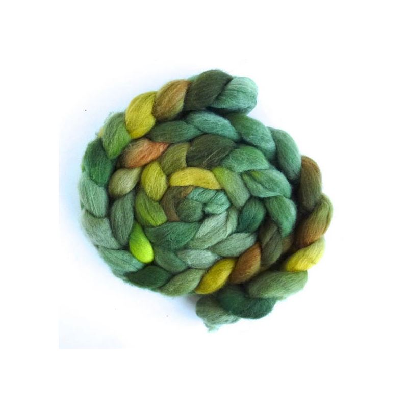 Falkland Wool Roving - Fiber, Green Family-1