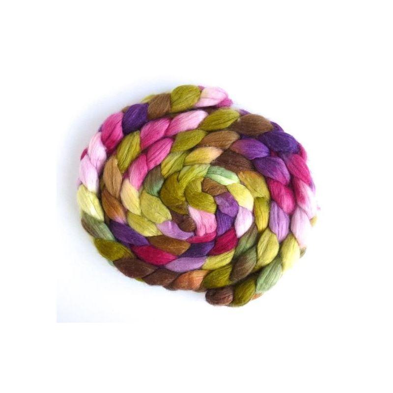 First Bloom, Merino/ SW Merino/ Silk Roving-1