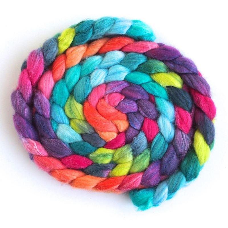 Summer Jubilee - Polwarth/Silk Roving-1