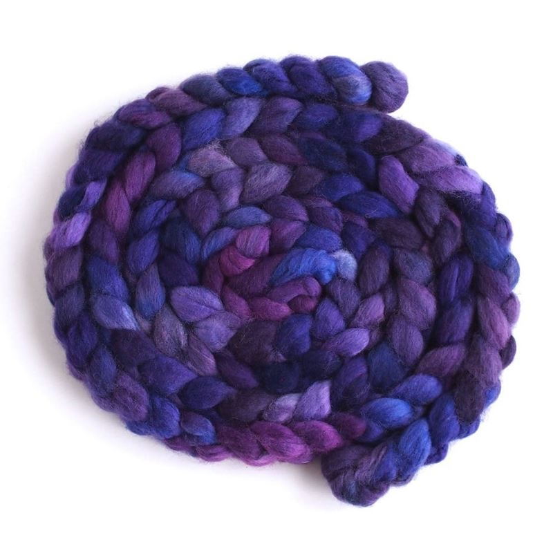 Violet Rivet on Superwash Merino/ Nylon Roving1